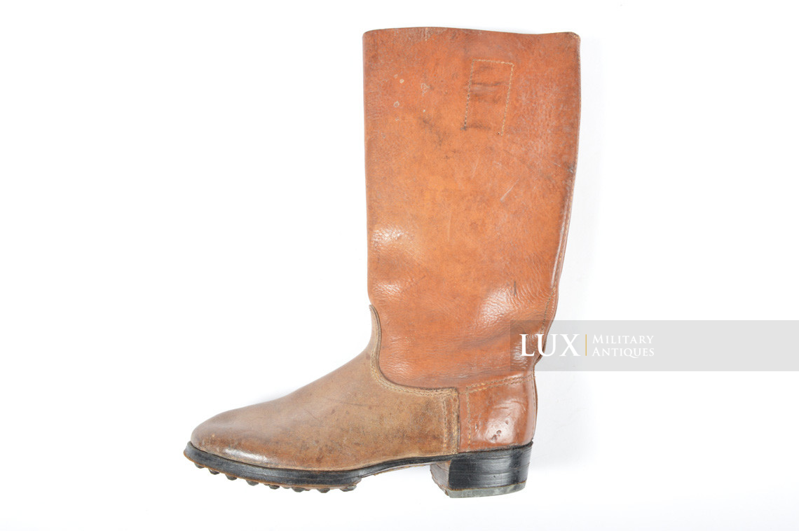 Early-war Luftwaffe issue brown jackboots, « 1939 » - photo 22