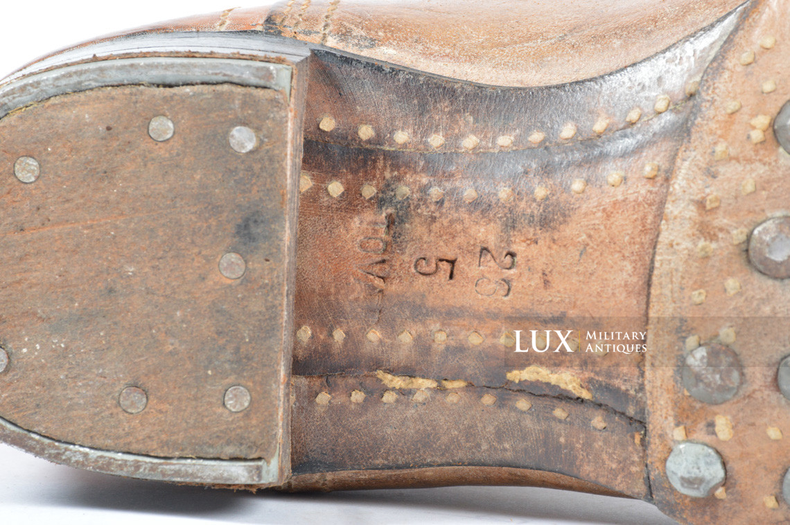 Early-war Luftwaffe issue brown jackboots, « 1939 » - photo 29
