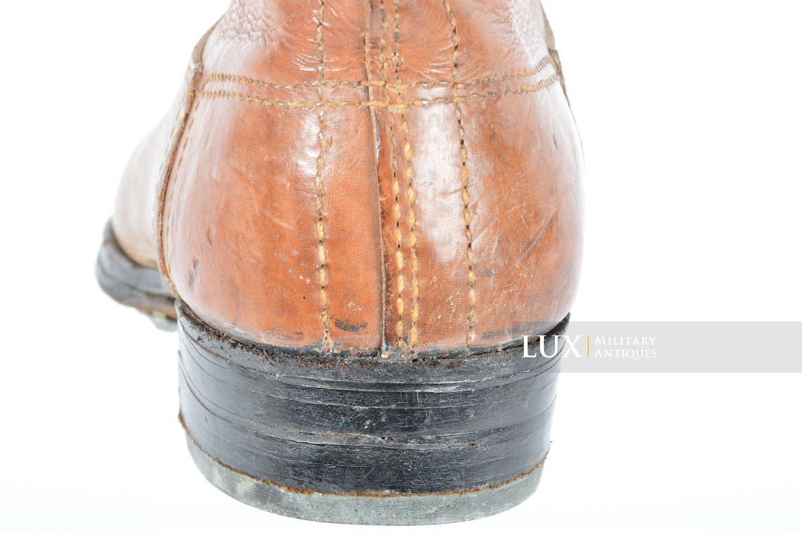 Early-war Luftwaffe issue brown jackboots, « 1939 » - photo 32